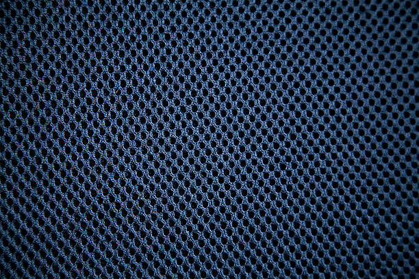 background holes spots blue pattern textile material nylon clothing cotton - mesh textile stock photos and pictures
