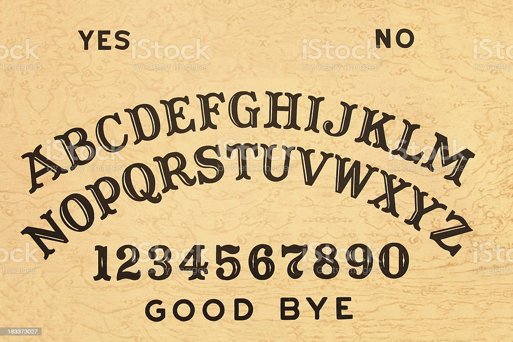 Background Illustration Of A Traditional Ouija Board Stock