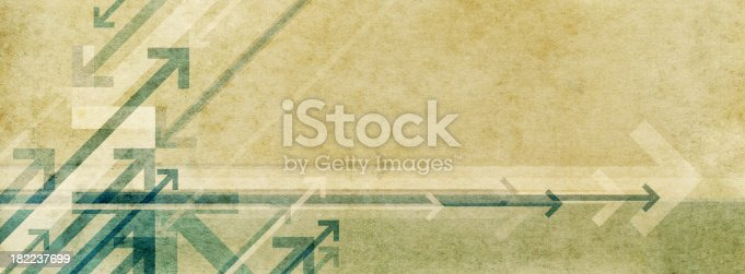 istock Background image featuring arrows on a marbled paper texture 182237699