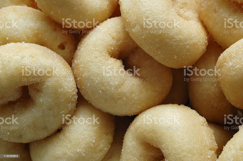Background image, mini frosted doughnuts royalty-free stock photo