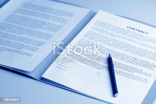 istock Background image of a contract ready to be signed 156265947