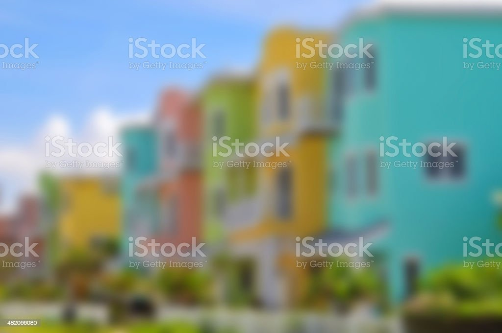 Background Image of Colorful Beach Condominiums stock photo