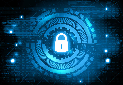 istock Background image of Internet security 1210717163