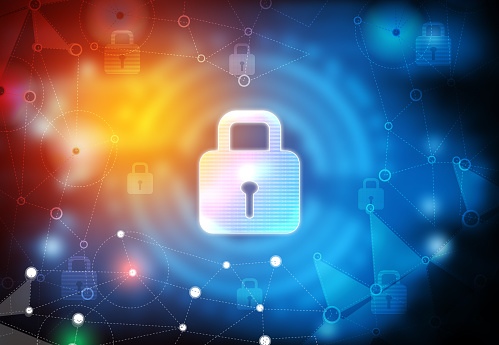 istock Background image of Internet security 1210717287