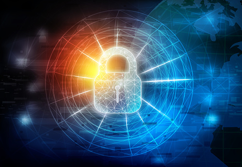 istock Background image of Internet security 1212678698