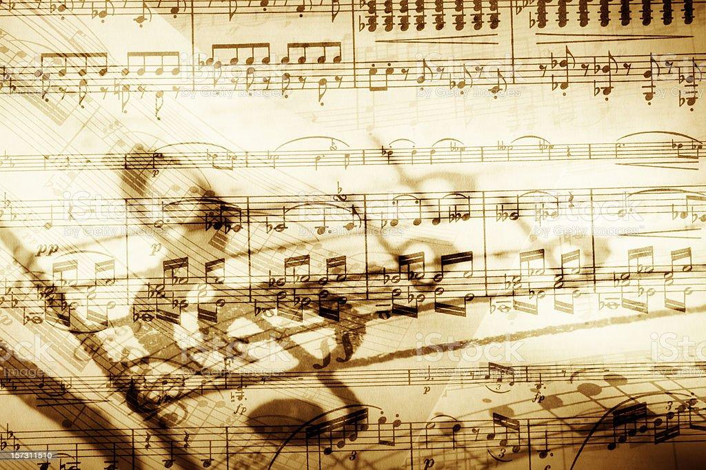 Background image of music notes stock photo