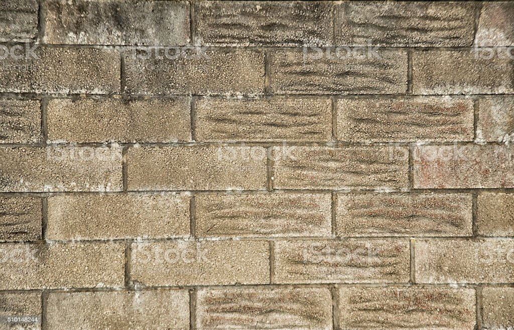 Background image of  new concrete brick wall stock photo