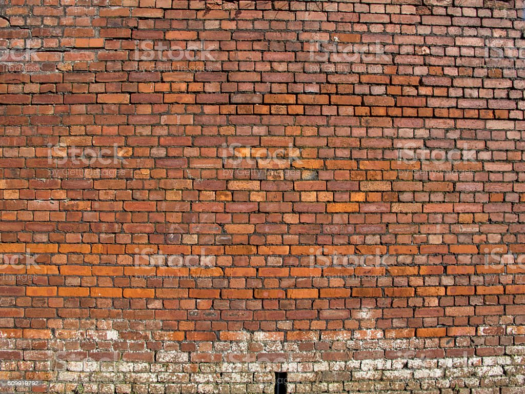 Background image of Old red brick wall stock photo