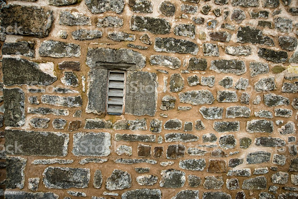 Background image Old stone wall stock photo