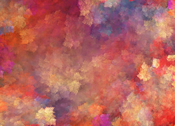 background in impressionism style with many colors - impressionist painting stock photos and pictures