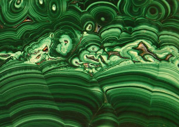 background in polished malachite - malachiet stockfoto's en -beelden