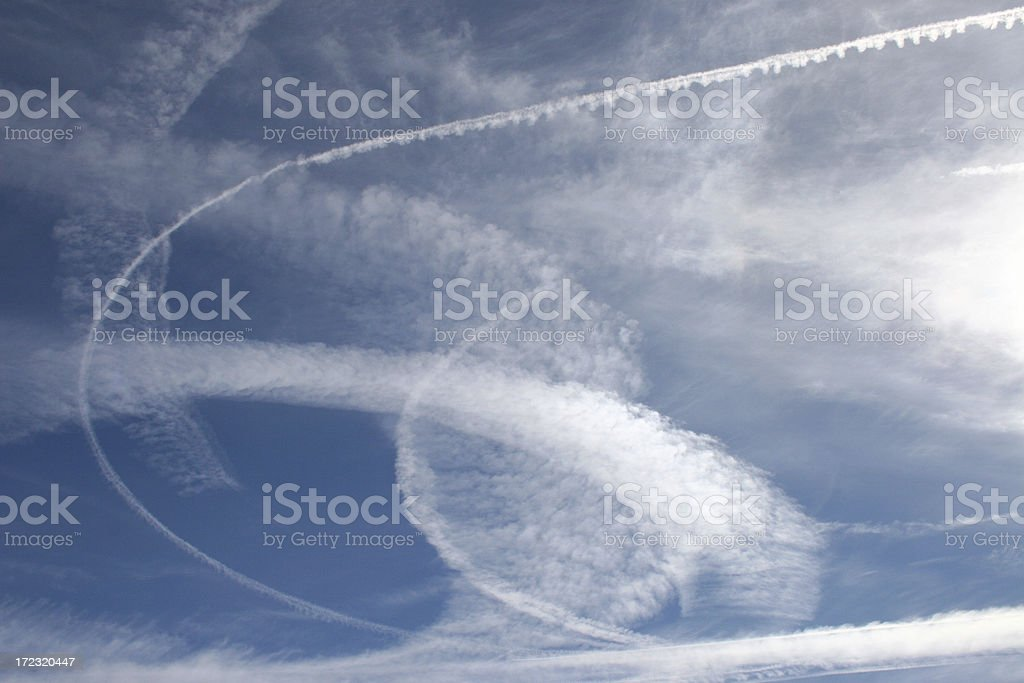Background in the sky royalty-free stock photo