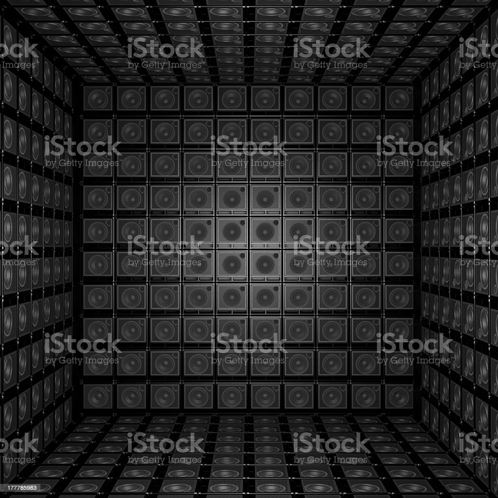 Background is out of guitar amps royalty-free stock photo
