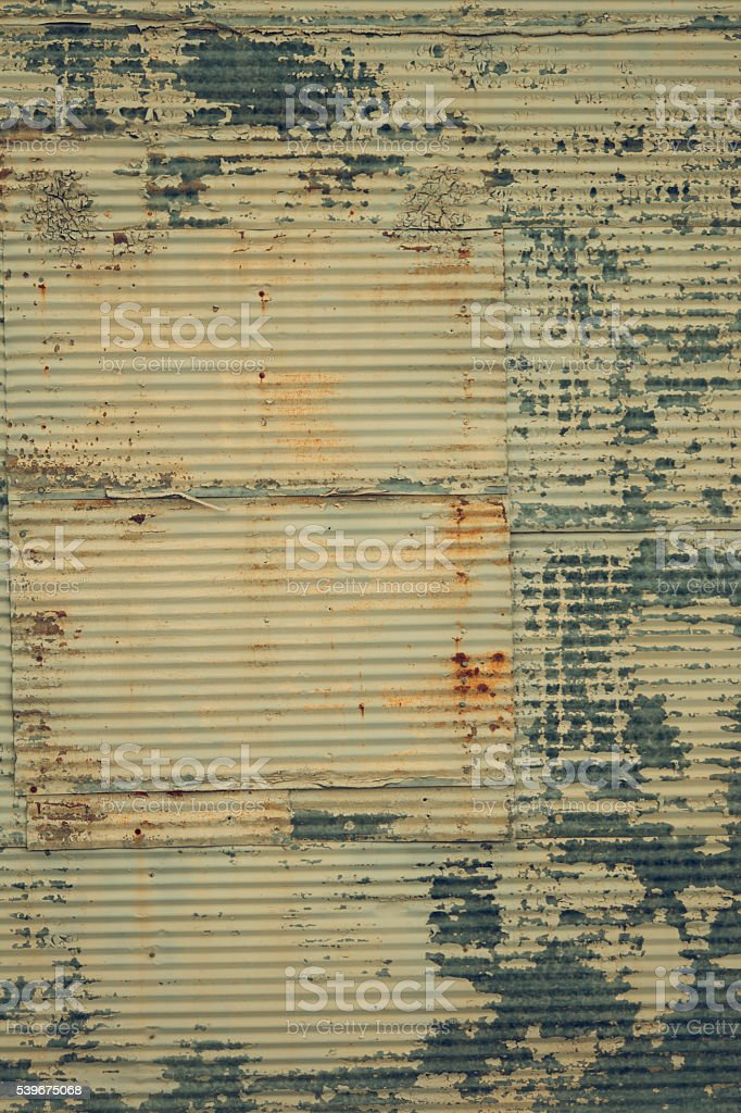 Background Layer Wallpaper Texture Corrugated Corroded Flaky Rustic Metal Siding Royalty Free Stock Photo