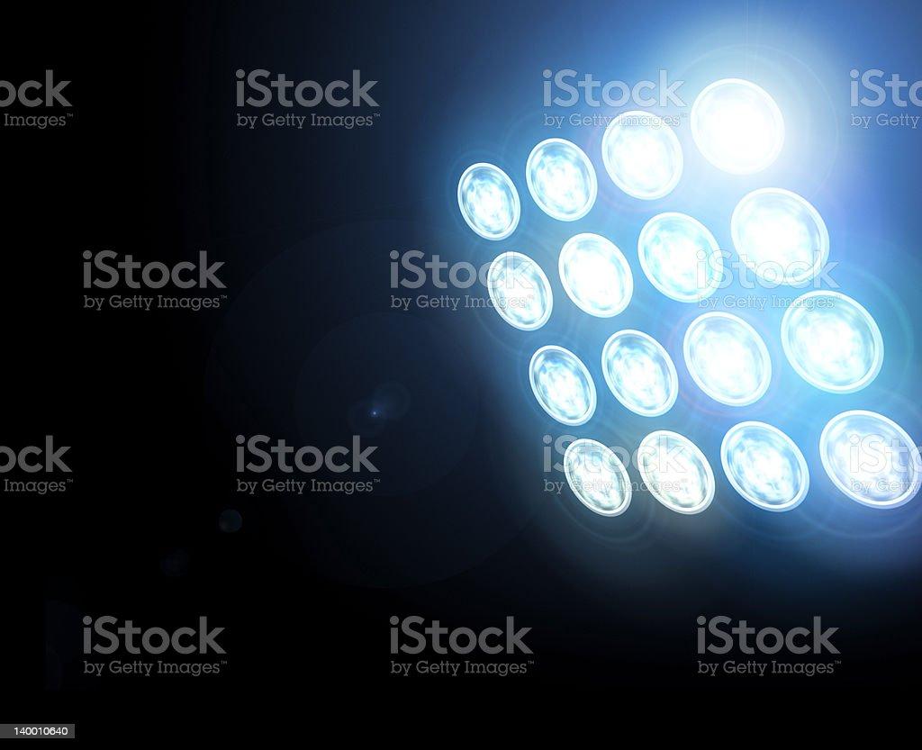 Background lights on dark place stock photo