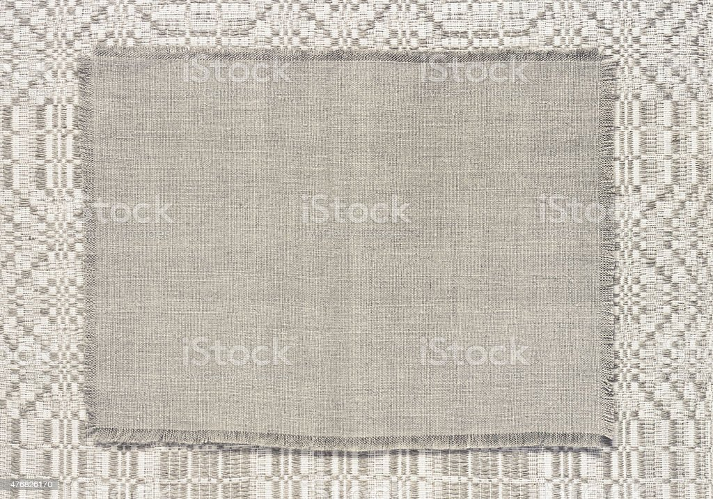 background linen fabric with a pattern of weaving toning stock photo