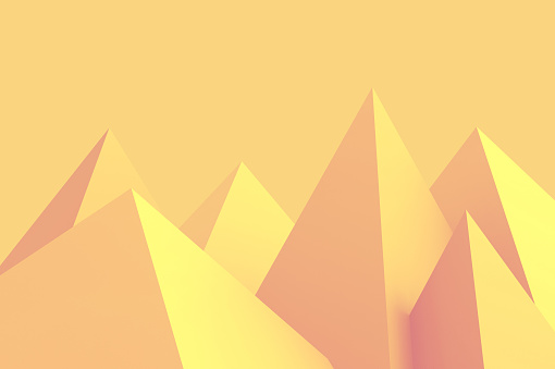 istock Background Lowpoly Pyramid Yellow 593335572