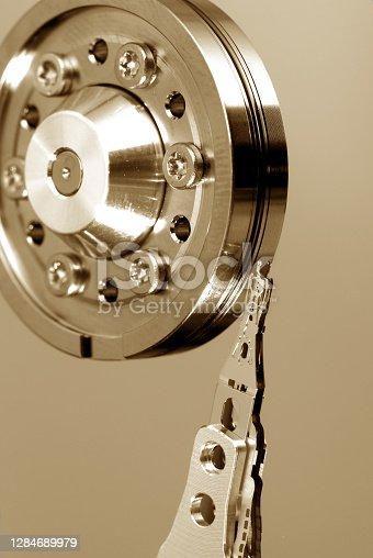 HDD Background macro closeup