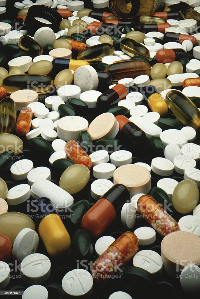 background made of colorful pills royalty-free stock photo