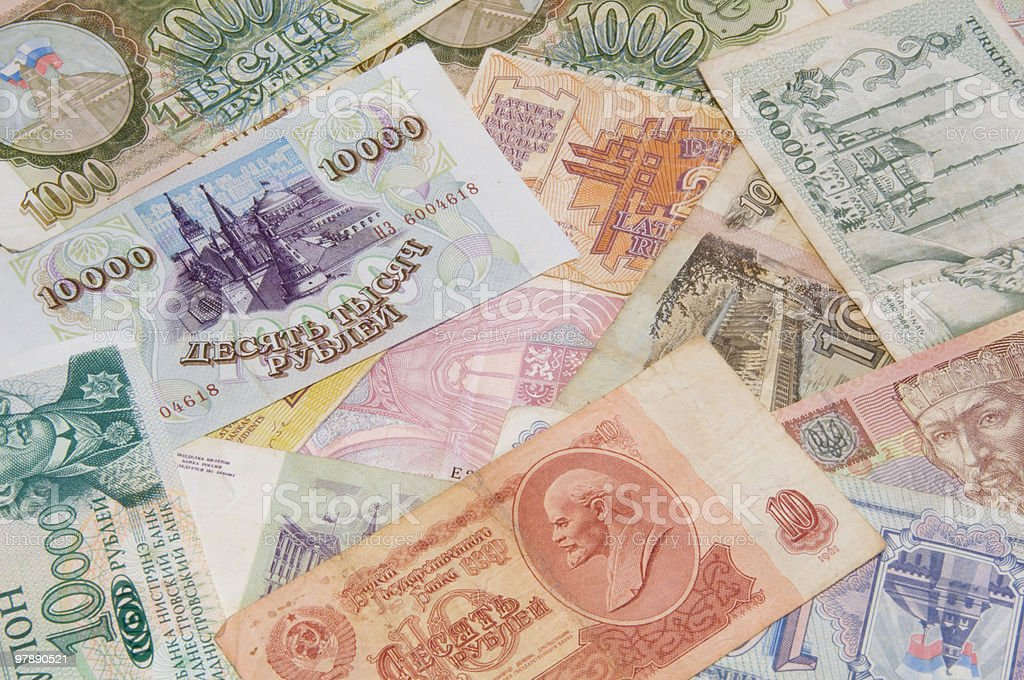 background made of money from different countries royalty-free stock photo