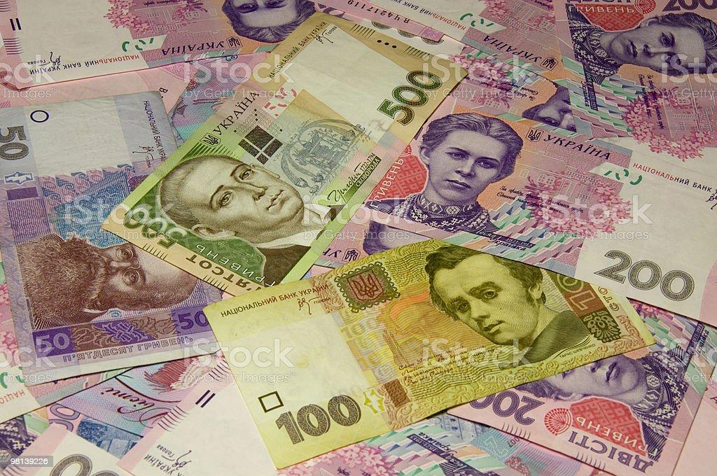 Sfondo in ucraino denaro foto stock royalty-free
