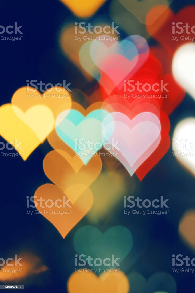Hearts bokeh Hintergrund – Foto