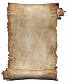istock Background manuscript rough roll of parchment paper white 471025731