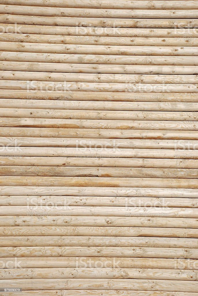 background - masonry of wooden logs royalty-free stock photo