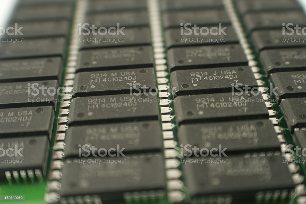 Background memory modules stock photo