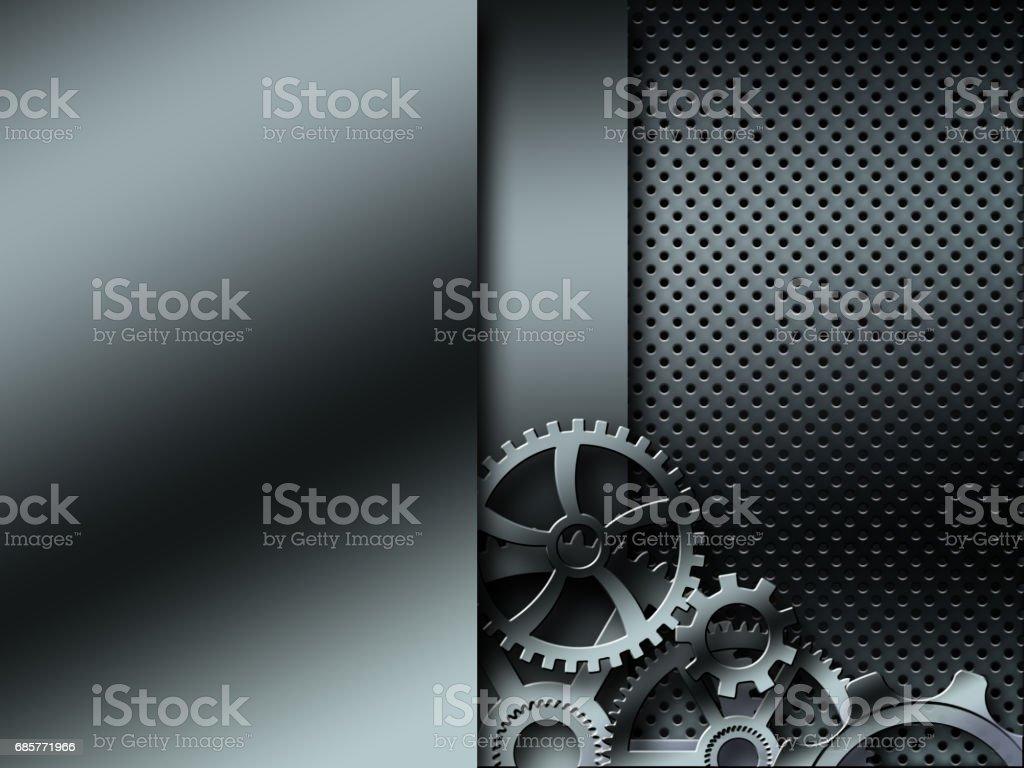 Background metallic gears royalty-free stock photo