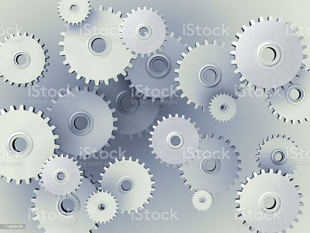 Background of 3D gears stock photo