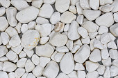Background of the big white marble pebbles