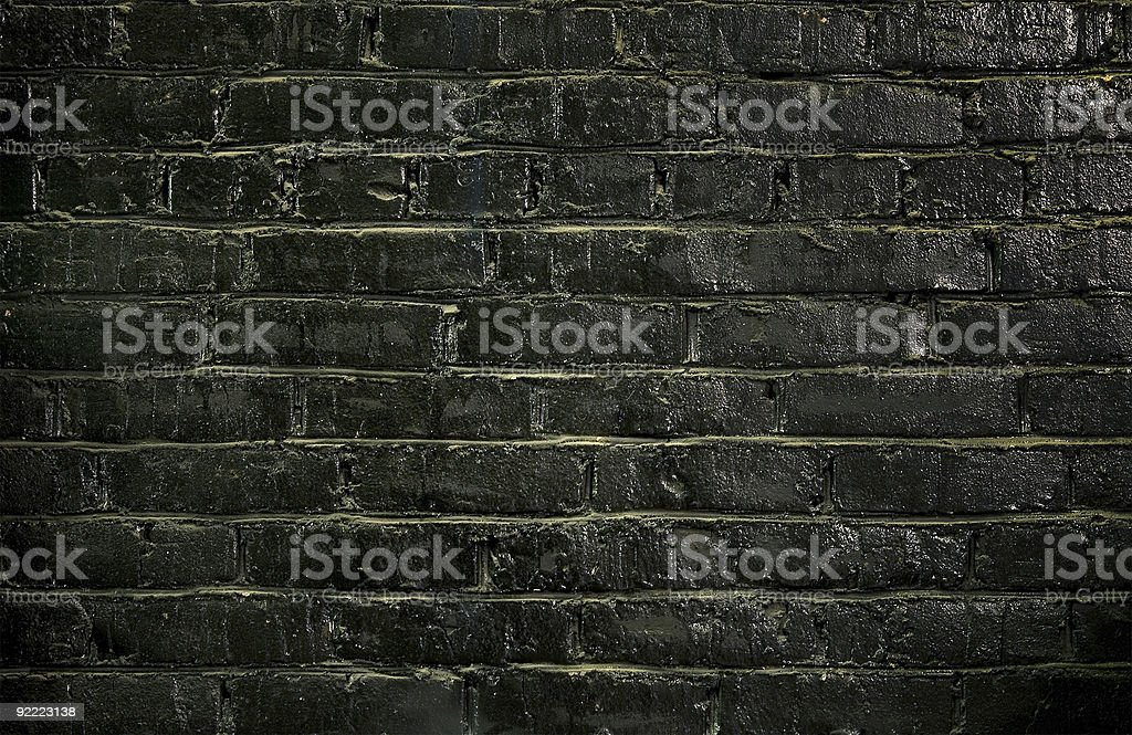 Background of a black brick wall royalty-free stock photo