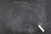 Background of a chalk black board with chalk