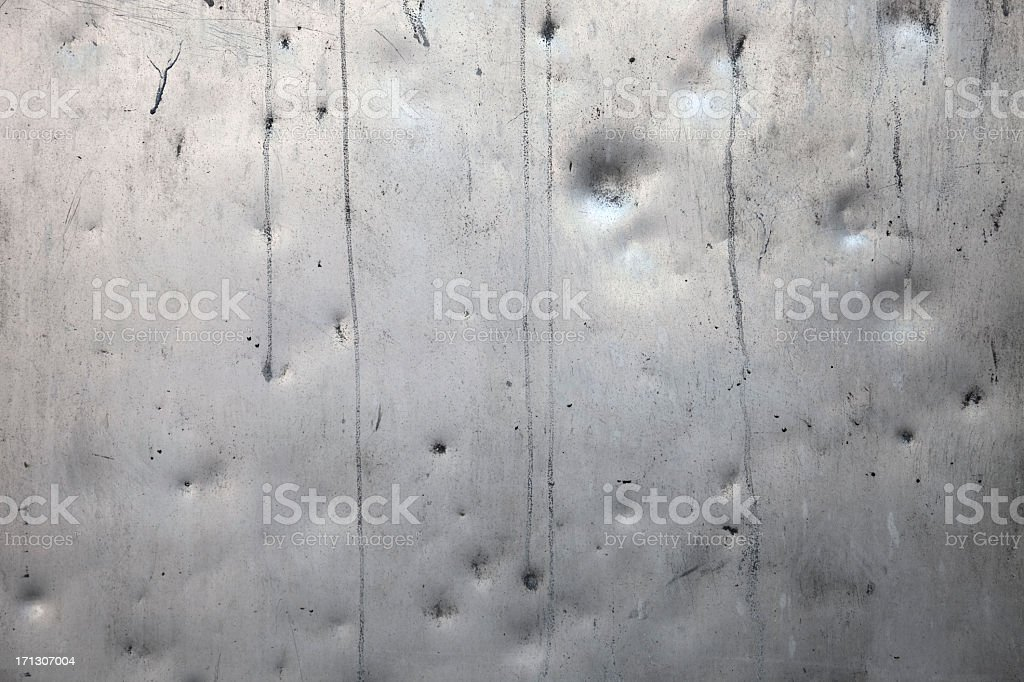 A Background Of A Dented Metal Texture Stock Photo & More ...