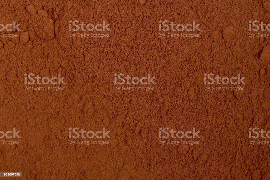 Background of a dry powder cocoa stock photo