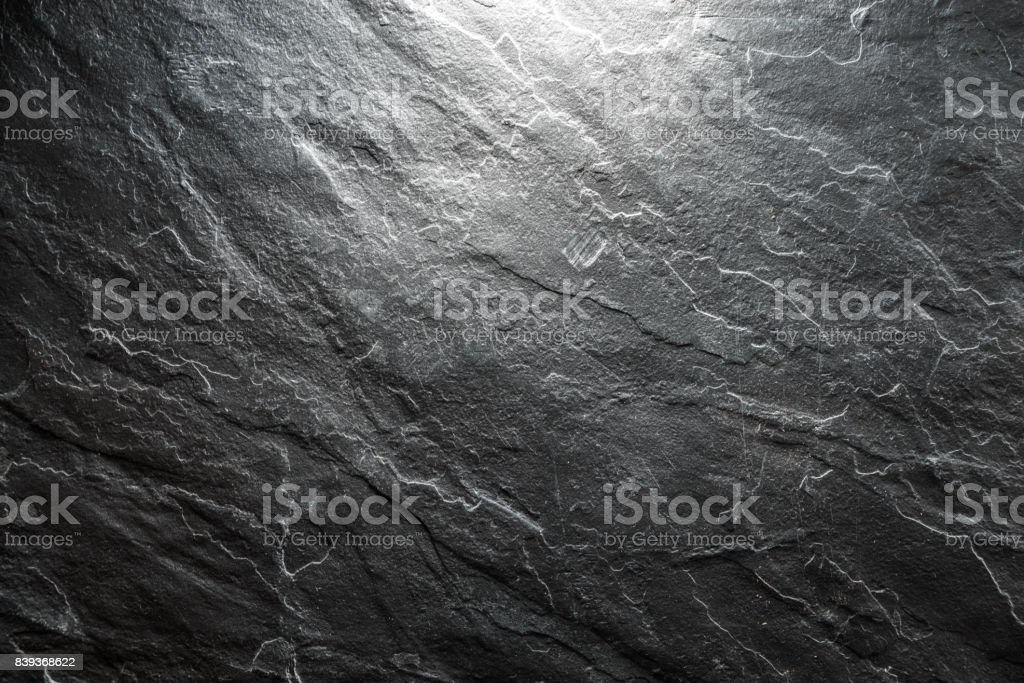 Background of a piece of black stone closeup stock photo
