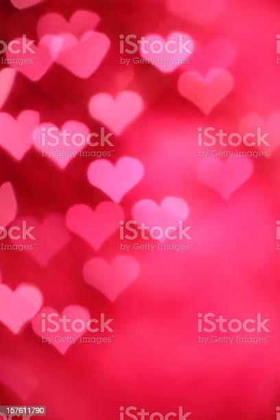 A Background Of A Pink Hearts Design Stock Photo - Download Image Now