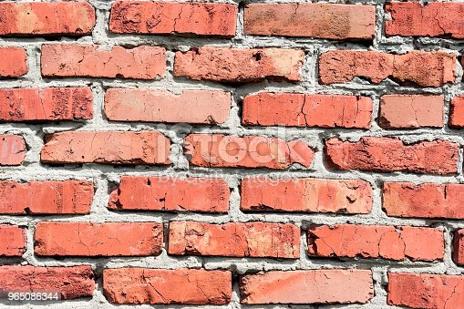 Background Of A Red Brick Wall Stock Photo & More Pictures of Architecture