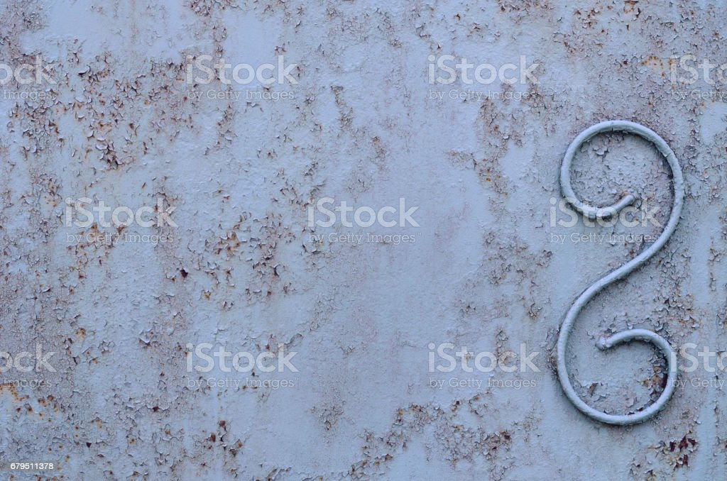 Background of a rusty old iron metal sheet, blue and gray colors royalty-free stock photo