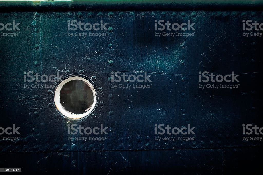 Background of a ships porthole - effect stock photo