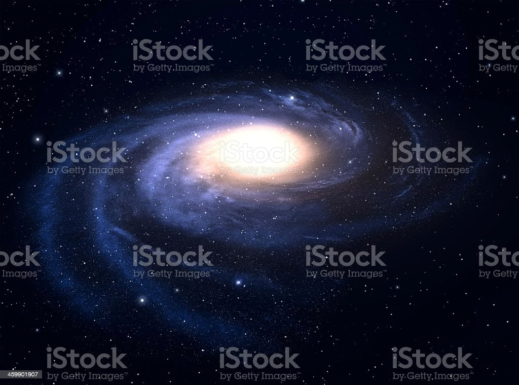 A background of a spiral galaxy stock photo