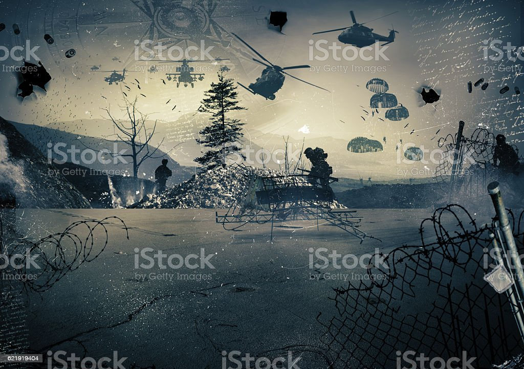 Background of a war stock photo