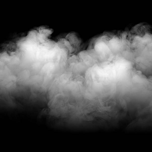 Background of abstract grey color smoke. Background of abstract grey color smoke isolate on black color background. with copy space smoke physical structure stock pictures, royalty-free photos & images
