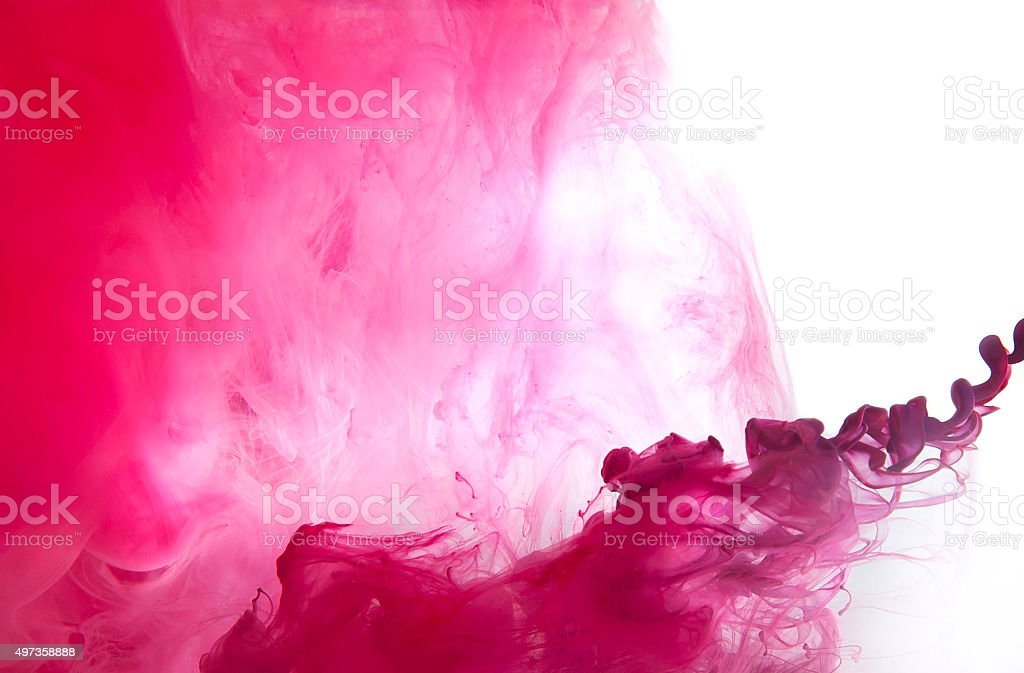 Background of acrylic paint in the water. stock photo