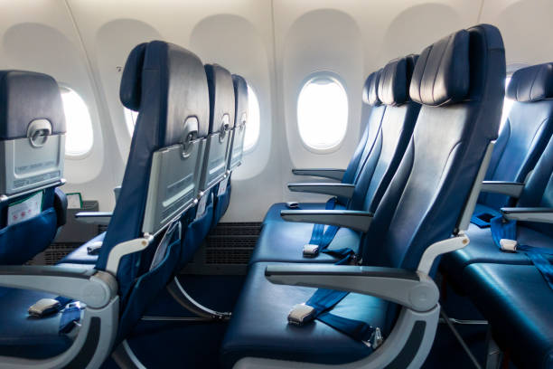 Background of airplane seats Background of airplane seats airplane seat stock pictures, royalty-free photos & images