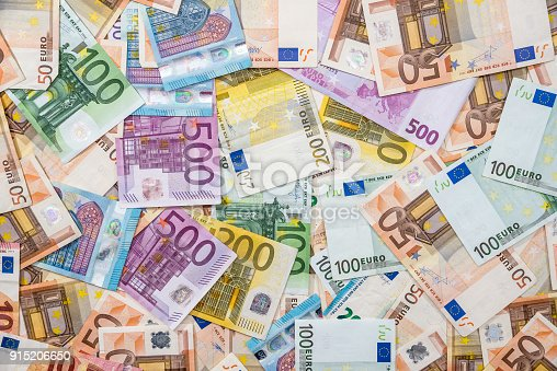 background of all euro bills for design