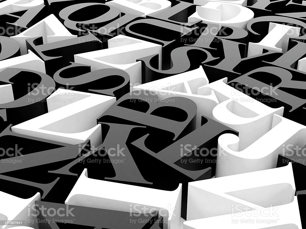 Background of alphabets royalty-free stock photo