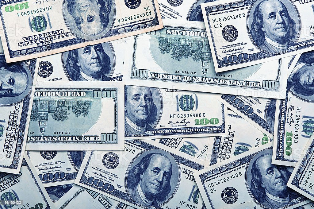 background of american dollars royalty-free stock photo