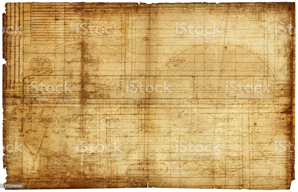 Background of an old brown piece of paper with writing royalty-free stock photo